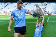 16 July 2017; Paul Mannion of Dublin and Angelina Rider after the Leinster GAA Football Senior Championship Final match between Dublin and Kildare at Croke Park in Dublin. Photo by Piaras Ó Mídheach/Sportsfile