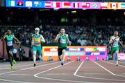 16 July 2017; Jason Smyth of Ireland competing in the Men's 100m T13 during the 2017 Para Athletics World Championships at the Olympic Stadium in London. Photo by Luc Percival/Sportsfile
