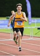 16 July 2017; Shane Aherne, Leevale AC, Co.Cork, in action during the Boy's Under 16 250m Hurdles event,  during the AAI Juvenile Championships Day 3 in Tullamore, Co Offaly. Photo by Tomás Greally/Sportsfile