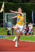 16 July 2017; Conor Cusack, Lake District Athletics, Co.Mayo, competing in the Boy's Under 16 Javelin event, where he set a new championship record of 63.04m, during the AAI Juvenile Championships Day 3 in Tullamore, Co Offaly. Photo by Tomás Greally/Sportsfile