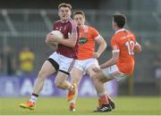 8 July 2017; Kieran Martin of Westmeath in action against Charlie Vernon, behind, and Rory Grugan of Armagh during the GAA Football All-Ireland Senior Championship Round 2B match between Westmeath and Armagh at TEG Cusack Park in Mullingar, Co Westmeath. Photo by Piaras Ó Mídheach/Sportsfile