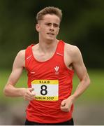 15 July 2017; Finley Richards of St Joseph's, Newport, SE Wales, representing Wales during the Boys 800m event during the SIAB T&F Championships at Morton Stadium in Santry, Co. Dublin. Photo by Piaras Ó Mídheach/Sportsfile