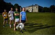 18 July 2017; In attendance during the 2017 GAA Football All Ireland Senior Championship Series National Launch at The Argory are, from left, Ciaran Murtagh of Roscommon, Ronan McNamee of Tyrone, Killian Young of Kerry, and Ciarán Kilkenny of Dublin, with the Sam Maguire Cup. Photo by Cody Glenn/Sportsfile
