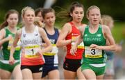 15 July 2017; Aimee Hayde of St Mary's Newport, Co Tipperary, representing Ireland, during the Girls 1500m event during the SIAB T&F Championships at Morton Stadium in Santry, Co. Dublin. Photo by Piaras Ó Mídheach/Sportsfile