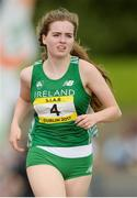 15 July 2017; Shona O'Brien of Presentation Milltown, representing Ireland, during the Girls 1500m event during the SIAB T&F Championships at Morton Stadium in Santry, Co. Dublin. Photo by Piaras Ó Mídheach/Sportsfile