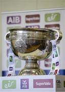 18 July 2017; In attendance during the 2017 GAA Football All Ireland Senior Championship Series National Launch at Loughmacrory St. Teresa's GAA Club, Loughmacrory, Co Tyrone, is the Sam Maguire Cup. Photo by Cody Glenn/Sportsfile