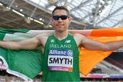 18 July 2017; Jason Smyth of Ireland celebrating after winning the Men's 200m T13 during the 2017 Para Athletics World Championships at the Olympic Stadium in London. Photo by Luc Percival/Sportsfile
