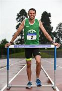 19 July 2017; 400m Hurdler Thomas Barr of Ferrybank AC, Co. Waterford, in attendance at the Irish Life Health National Senior Track & Field Championships 2017 Launch at Morton Park in Santry, Dublin. Photo by Sam Barnes/Sportsfile
