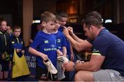 19 July 2017; Leinster's Cian Healy signs an autograph for Rory O'Donnell at the Bank of Ireland Leinster Rugby Summer Camp in Dundalk, Co Louth. Photo by Matt Browne/Sportsfile