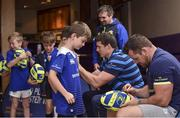 19 July 2017; Leinster's Cian Healy signs an autograph for Luke McCourt at the Bank of Ireland Leinster Rugby Summer Camp in Dundalk, Co Louth. Photo by Matt Browne/Sportsfile