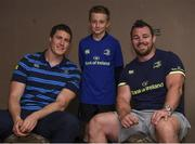 19 July 2017; Leinster's Ian Nagle and Cian Healy with Elliott Nichols at the Bank of Ireland Leinster Rugby Summer Camp in Dundalk, Co Louth. Photo by Matt Browne/Sportsfile
