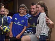 19 July 2017; Leinster's Cian Healy with Daragh and Nessa Brady at the Bank of Ireland Leinster Rugby Summer Camp in Dundalk, Co Louth. Photo by Matt Browne/Sportsfile
