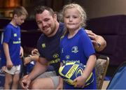19 July 2017; Molly O'Callaghan with Leinster's Cian Healy  at the Bank of Ireland Leinster Rugby Summer Camp in Dundalk, Co Louth. Photo by Matt Browne/Sportsfile