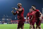 3 November 2017; Simon Zebo of Munster celebrates after scoring the second try against the Dragons during the Guinness PRO14 Round 8 match between Munster and Dragons at Irish Independent Park in Cork. Photo by Matt Browne/Sportsfile