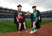 20 March 2012; In attendance at the launch of the Ladies Gaelic Football 3rd Level Colleges Championship Weekend, which takes place on the 24th and 25th of March in Queens University Belfast, are Sinead O'Sullivan, Trinity College, left, and Nora Ward, AIT. Croke Park, Dublin. Picture credit: Brian Lawless / SPORTSFILE