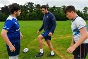 19 July 2017; Leinster academy player Caelan Doris, coaches young players during the Bank of Ireland Leinster Rugby School of Excellence at Kings Hospital in Palmerstown, Dublin.  Photo by Sam Barnes/Sportsfile