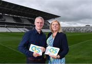 19 July 2017; Today marks the day when Páirc Uí Chaoímh re-opens for business with a club championship hurling match in the famous redeveloped stadium. OCS (One Complete Solution) was delighted to attend the press day at the redeveloped Páirc Uí Chaoímh, which will be the first smart stadium in Ireland and the UK. The entire stadium is WiFi enabled, with 4G Vodafone technology installed and the capacity to upgrade to next generation 5G. It is also the first stadium in the country to use LED Flood lighting. Intermittent phone and data coverage will be a thing of the past. Pictured at the media day are Seanie McGrath, Head of Sales at OCS Ireland, and Áine Mulcahy, MD at OCS group Ireland, at Pairc Ui Chaoimh in Co. Cork. Photo by Eóin Noonan/Sportsfile