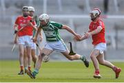 19 July 2017; Kevin Canty of Valley Rovers in action against Keith Costello of Blarney during the Cork County Premier Intermediate Championship match between Blarney and Valley Rovers at Páirc Ui Chaoimh in Co. Cork. Photo by Eóin Noonan/Sportsfile