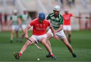 19 July 2017; Joe Jordan of Blarney in action against Eoghan Delaney of Valley Rovers during the Cork County Premier Intermediate Championship match between Blarney and Valley Rovers at Páirc Ui Chaoimh in Co. Cork. Photo by Eóin Noonan/Sportsfile