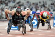 19 July 2017; Patrick Monahan of Ireland competing in the Men's 800m, T53, Heat during the 2017 Para Athletics World Championships at the Olympic Stadium in London. Photo by Luc Percival/Sportsfile
