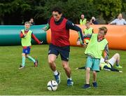 20 July 2017; Former Republic of Ireland player Keith Andrews in action at an FAI Festival of Football at Kilkenny Castle in Kilkenny. Photo by Matt Browne/Sportsfile