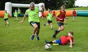 20 July 2017; Former Republic of Ireland player Stephen Hunt in action at an FAI Festival of Football at Kilkenny Castle in Kilkenny. Photo by Matt Browne/Sportsfile