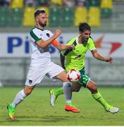 20 July 2017; Greg Bolger of Cork City in action against Antoniades Marios of AEK Larnaca during the UEFA Europa League Second Qualifying Round Second Leg match between AEK Larnaca and Cork City at the AEK Arena in Larnaca, Cyprus. Photo by Doug Minihane/Sportsfile