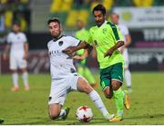 20 July 2017; Gearóid Morrissey of Cork City in action against Sansinena Chamorro Alberto of AEK Larnaca during the UEFA Europa League Second Qualifying Round Second Leg match between AEK Larnaca and Cork City at the AEK Arena in Larnaca, Cyprus. Photo by Doug Minihane/Sportsfile