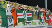 20 July 2017; Cork City supporters at the end of the UEFA Europa League Second Qualifying Round Second Leg match between AEK Larnaca and Cork City at the AEK Arena in Larnaca, Cyprus. Photo by Doug Minihane/Sportsfile