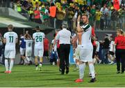 20 July 2017; Kevin O'Connor of Cork City applauds supporters as he leaves the pitch after the UEFA Europa League Second Qualifying Round Second Leg match between AEK Larnaca and Cork City at the AEK Arena in Larnaca, Cyprus. Photo by Doug Minihane/Sportsfile