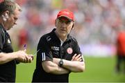16 July 2017; Tyrone manager Mickey Harte before the Ulster GAA Football Senior Championship Final match between Tyrone and Down at St Tiernach's Park in Clones, Co. Monaghan. Photo by Oliver McVeigh/Sportsfile