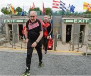16 July 2017; Tyrone manager Mickey Harte enters the ground before the Ulster GAA Football Senior Championship Final match between Tyrone and Down at St Tiernach's Park in Clones, Co. Monaghan. Photo by Oliver McVeigh/Sportsfile