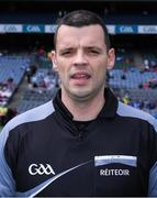 16 July 2017;  Referee Patrick Maguire before the Electric Ireland Leinster GAA Football Minor Championship Final match between Dublin and Louth at Croke Park in Dublin. Photo by Ray McManus/Sportsfile