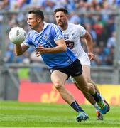 16 July 2017; Darren Daly of Dublin in action against Paul Cribbin of Kildare during the Leinster GAA Football Senior Championship Final match between Dublin and Kildare at Croke Park in Dublin. Photo by Ray McManus/Sportsfile