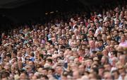 16 July 2017; Supporters, in the Hogan Stand, stand for the playing of the Nation Anthem before the Leinster GAA Football Senior Championship Final match between Dublin and Kildare at Croke Park in Dublin. Photo by Ray McManus/Sportsfile