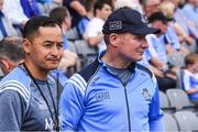 16 July 2017; Dublin manager Jim Gavin and Jason Sherlock, left, before the Leinster GAA Football Senior Championship Final match between Dublin and Kildare at Croke Park in Dublin. Photo by Ray McManus/Sportsfile