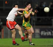 21 March 2012; Patrick McBrearty, Donegal, in action against Dean McNally, Tyrone. Cadburys Ulster Under 21 Football Championship Quarter-Final,Tyrone v Donegal, Tyrone v Donegal,Healy Park, Omagh, Co. Tyrone. Picture credit: Oliver McVeigh / SPORTSFILE