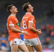 15 July 2017; Stephen Sheridan, right, and Gregory McCabe of Armagh during the GAA Football All-Ireland Senior Championship Round 3B match between Tipperary and Armagh at Semple Stadium in Thurles, Co Tipperary. Photo by Ray McManus/Sportsfile