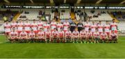 16 July 2017; The Derry squad before the Electric Ireland Ulster GAA Football Minor Championship Final match between Cavan and Derry at St Tiernach's Park in Clones, Co. Monaghan. Photo by Oliver McVeigh/Sportsfile