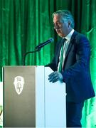 21 July 2017; FAI Chief Executive John Delaney speaking at the FAI Communications Awards & Delegates Dinner at Hotel Kilkenny in Kilkenny. Photo by Seb Daly/Sportsfile