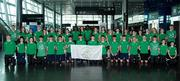 22 July 2017: A team of 40 young athletes will travel to Gyor, Hungary to compete at the 2017 European Youth Olympic Festival (EYOF) from July 24th to 30th. The multi-sport event will see Irish athletes (aged 14-16) compete against the best youth athletes in Europe. The six sports represented by Ireland are Athletics, Cycling, Swimming, Judo, Tennis and Gymnastics. Pictured are the Ireland team in Dublin airport ahead of their departure for the European Youth Olympic Festival in Hungary.