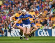22 July 2017; Michael Breen of Tipperary in action against David Fitzgerald of Clare during the GAA Hurling All-Ireland Senior Championship Quarter-Final match between Clare and Tipperary at Páirc Uí Chaoimh in Cork. Photo by Ray McManus/Sportsfile