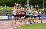22 July 2017; Kevin Kelly of St Coca's AC, Co. Kildare, lead the field during his Men's 1500m Heat during the Irish Life Health National Senior Track & Field Championships – Day 1 at Morton Stadium in Santry, Co. Dublin. Photo by Sam Barnes/Sportsfile