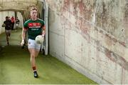 22 July 2017; Mayo captain Cillian O'Connor leads his team-mates to the pitch before the GAA Football All-Ireland Senior Championship Round 4A match between Cork and Mayo at Gaelic Grounds in Co. Limerick. Photo by Piaras Ó Mídheach/Sportsfile