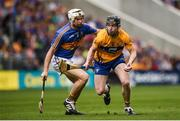 22 July 2017; Tony Kelly of Clare in action against Brendan Maher of Tipperary during the GAA Hurling All-Ireland Senior Championship Quarter-Final match between Clare and Tipperary at Páirc Uí Chaoimh in Co. Cork. Photo by Cody Glenn/Sportsfile