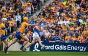 22 July 2017; John O'Dwyer of Tipperary in action against Cian Dillon of Clare during the GAA Hurling All-Ireland Senior Championship Quarter-Final match between Clare and Tipperary at Páirc Uí Chaoimh in Cork. Photo by Cody Glenn/Sportsfile