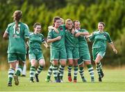 22 July 2017; Evelyn Daly of Cork City WFC, third right, celebrates with teammates after scoring her side's second goal of the game during the Continental Tyres Women's National League match between Cork City WFC and Galway WFC at Bishopstown Stadium in Co. Cork. Photo by Seb Daly/Sportsfile
