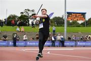 22 July 2017; Michael Jordan of Naas AC, Co. Kildare, competing in the Men's Javelin during the Irish Life Health National Senior Track & Field Championships – Day 1 at Morton Stadium in Santry, Co. Dublin. Photo by Sam Barnes/Sportsfile