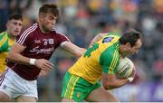 22 July 2017; Michael Murphy of Donegal in action against Paul Conroy of Galway during the GAA Football All-Ireland Senior Championship Round 4A match between Galway and Donegal at Markievicz Park in Co. Sligo. Photo by Oliver McVeigh/Sportsfile