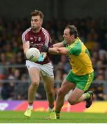 22 July 2017; Paul Conroy of Galway in action against Michael Murphy of Donegal during the GAA Football All-Ireland Senior Championship Round 4A match between Galway and Donegal at Markievicz Park in Co. Sligo. Photo by Oliver McVeigh/Sportsfile
